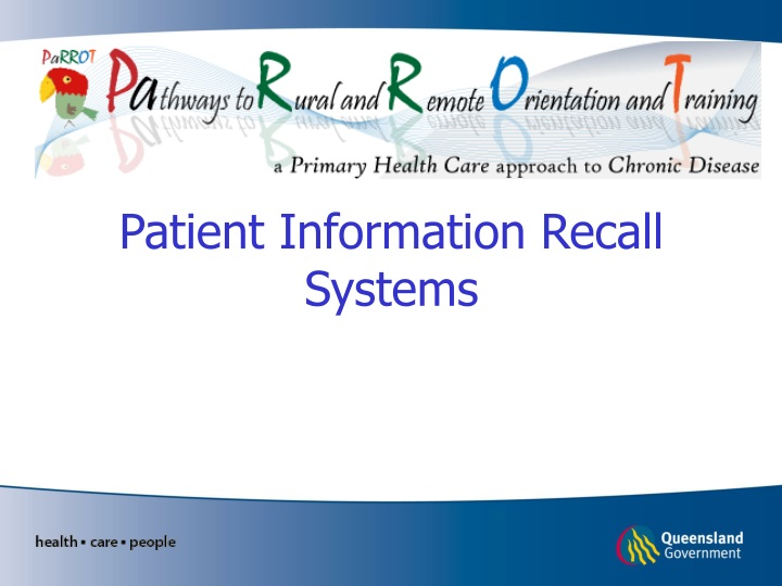patient information recall systems n.
