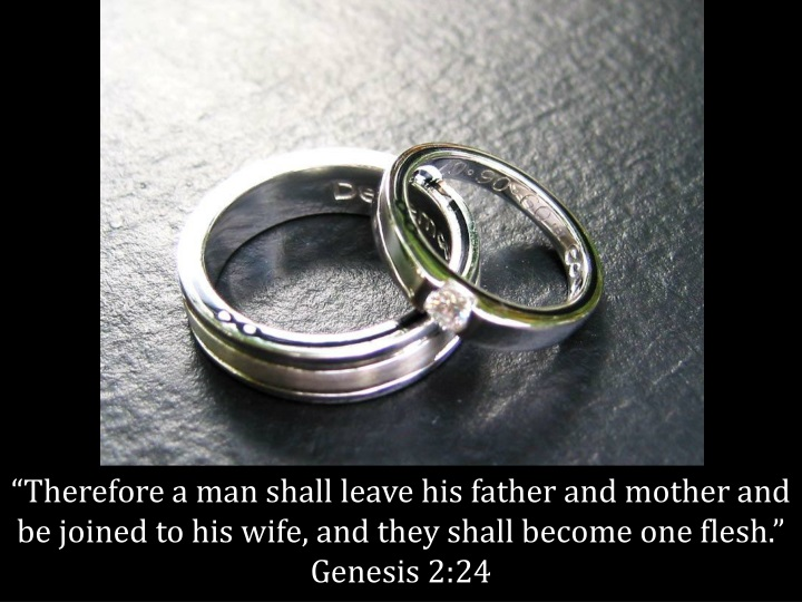 therefore a man shall leave his father and mother n.