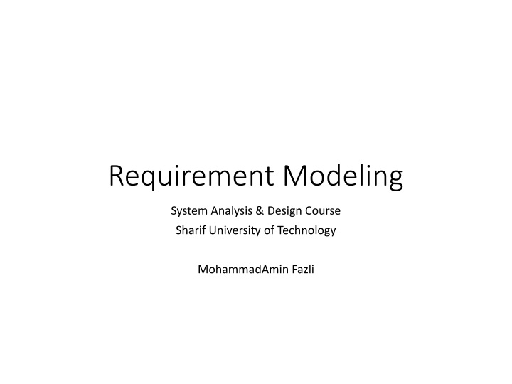 requirement modeling n.