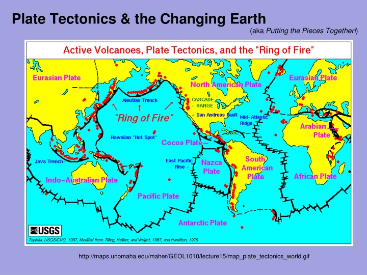 plate tectonics the changing earth n.