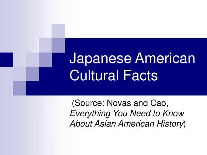 japanese american cultural facts n.