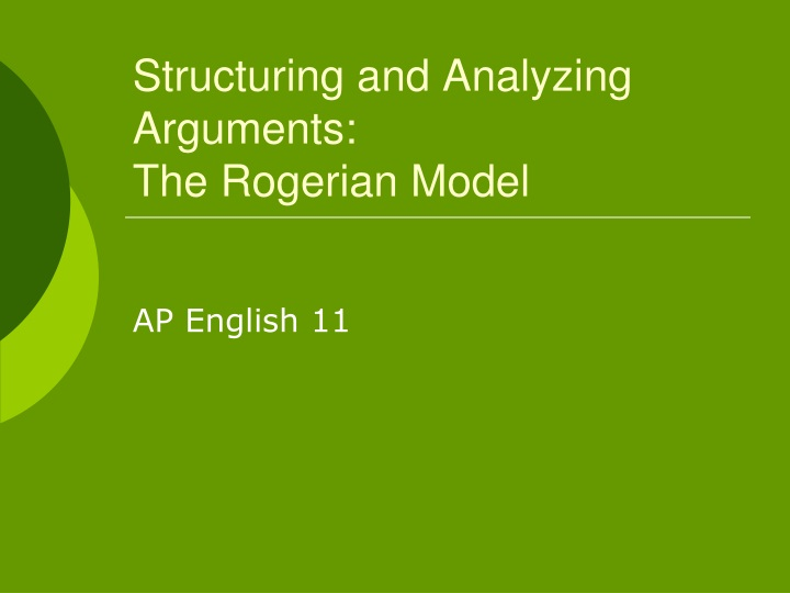 structuring and analyzing arguments the rogerian model n.