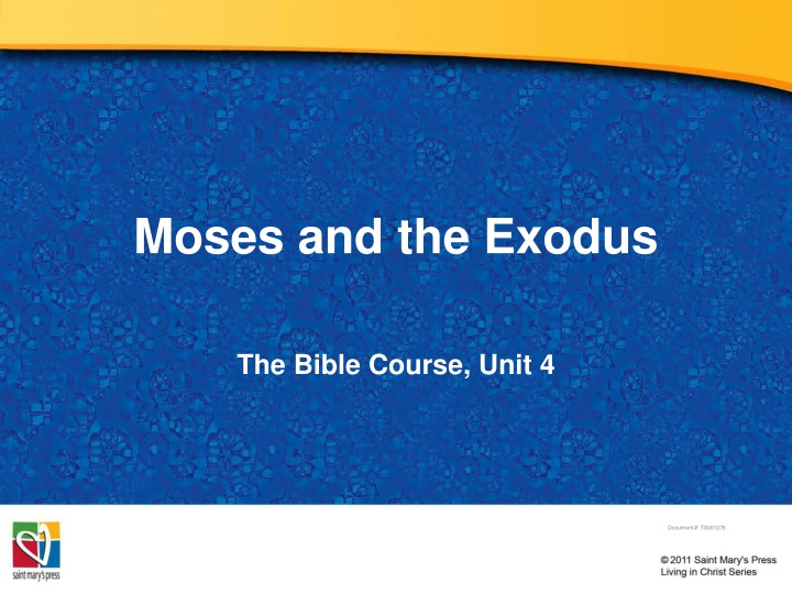moses and the exodus n.