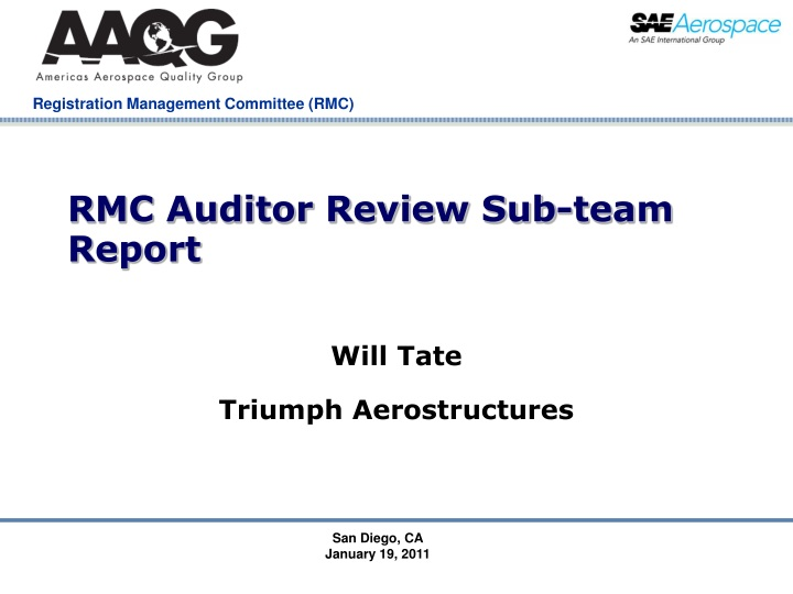 rmc auditor review sub team report n.