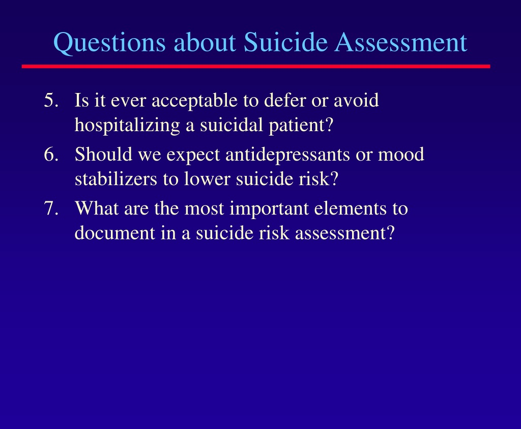 PPT - Suicide Assessment University of Michigan Depression ...