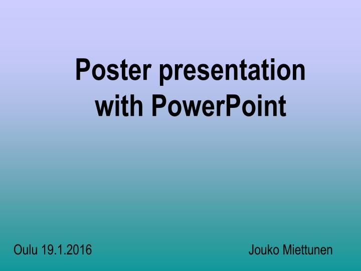 poster presentation with powerpoint n.