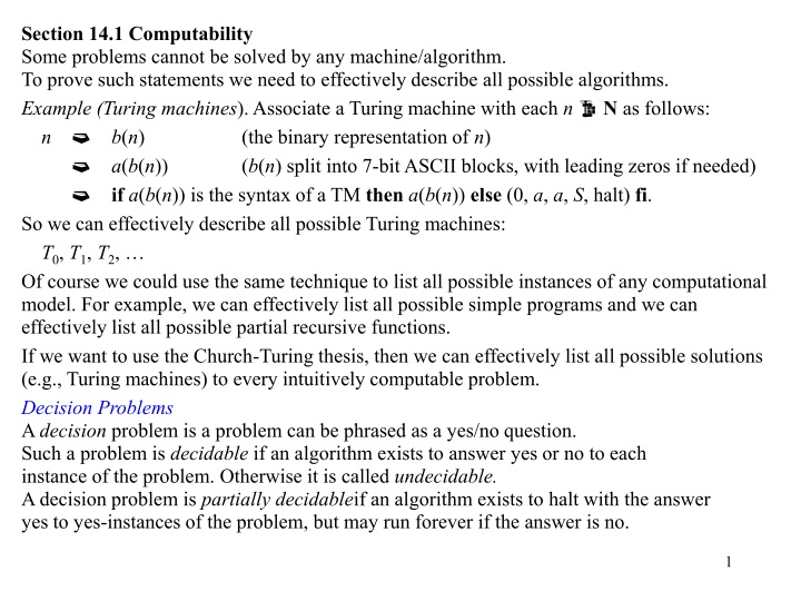section 14 1 computability some problems cannot n.