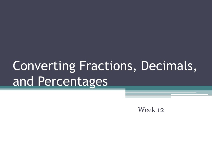 converting fractions decimals and percentages n.