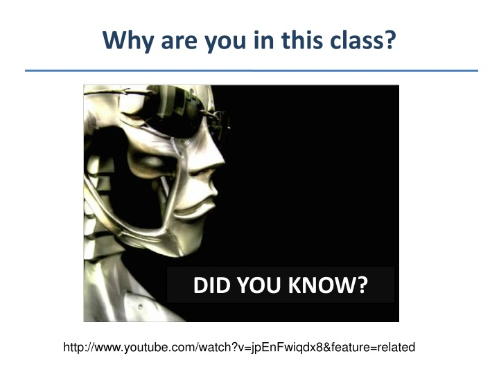 why are you in this class n.