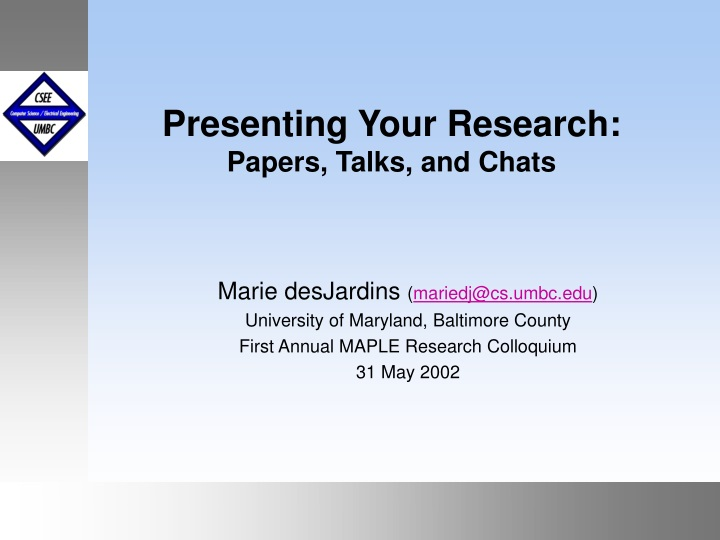 presenting your research papers talks and chats n.