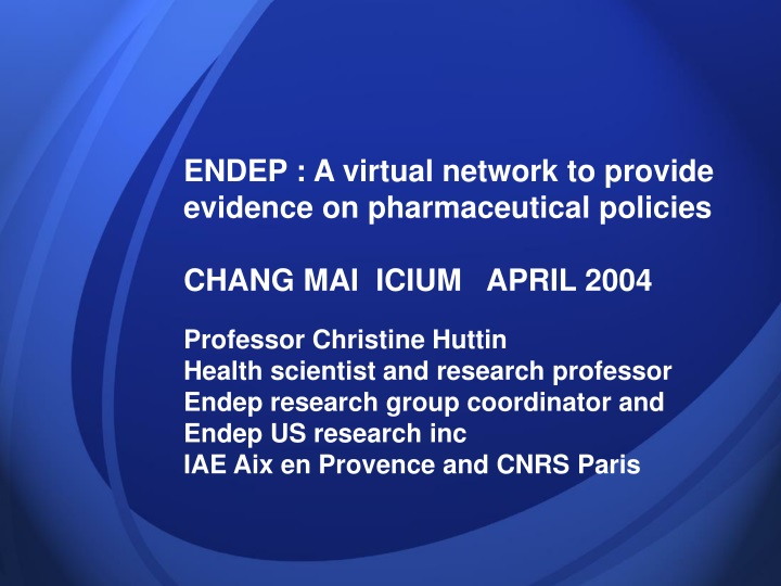 endep a virtual network to provide evidence n.