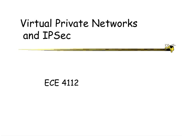virtual private networks and ipsec n.