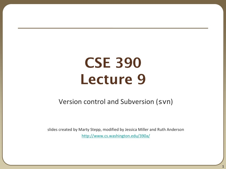 cse 390 lecture 9 n.