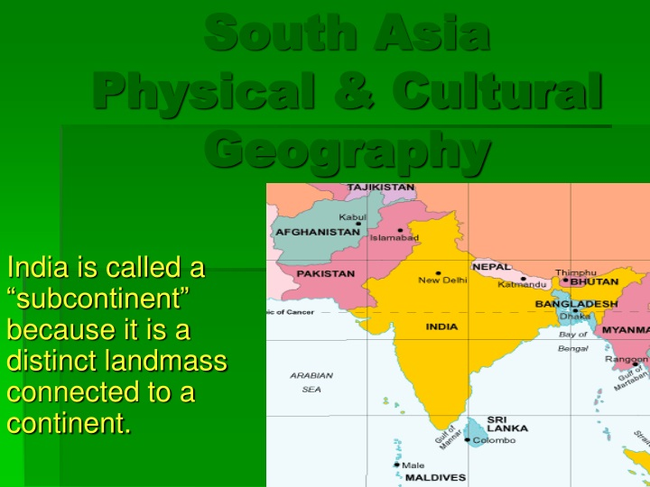 south asia physical cultural geography n.