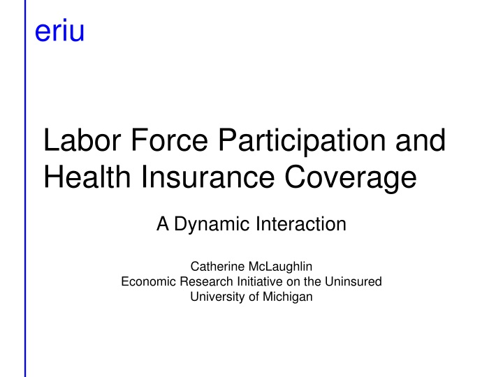 labor force participation and health insurance coverage n.