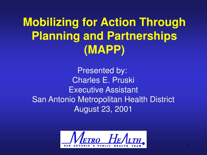 mobilizing for action through planning n.