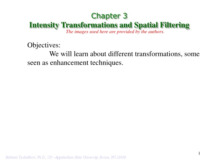 chapter 3 intensity transformations and spatial n.