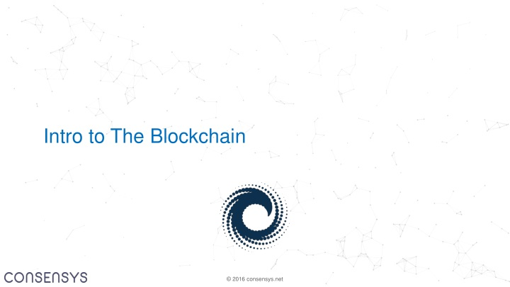 intro to the blockchain n.