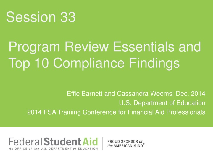 program review essentials and top 10 compliance findings n.