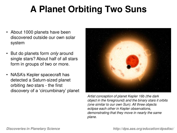 a planet orbiting two suns n.