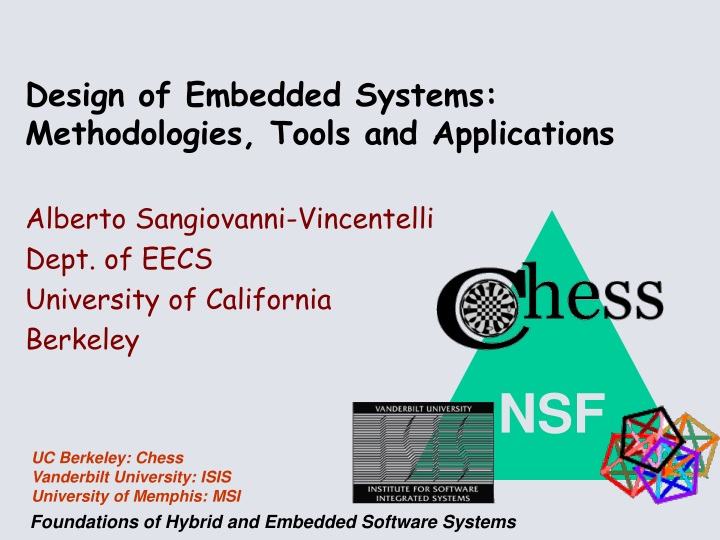 design of embedded systems methodologies tools and applications n.
