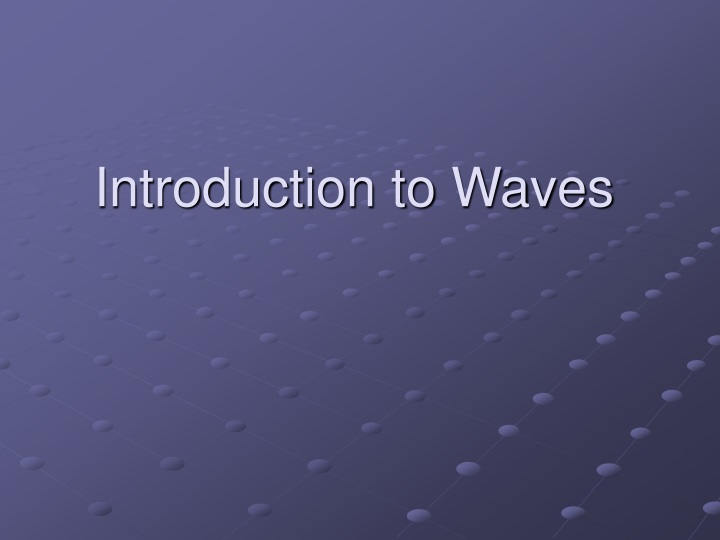 introduction to waves n.