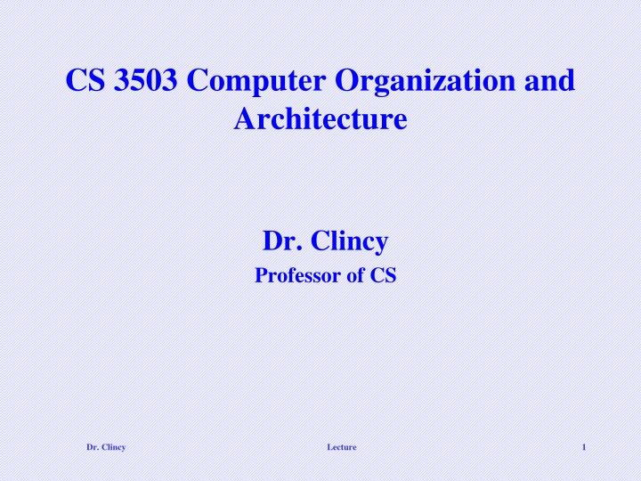 cs 3503 computer organization and architecture n.
