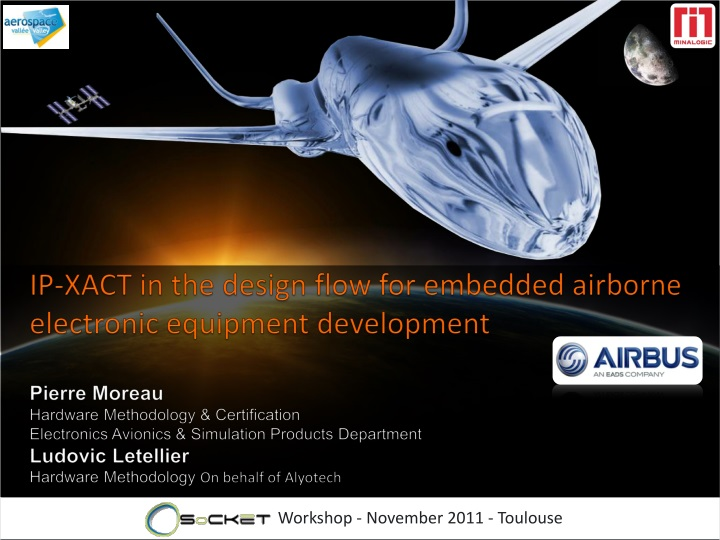 ip xact in the design flow for embedded airborne n.