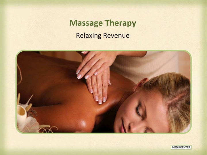 massage therapy n.