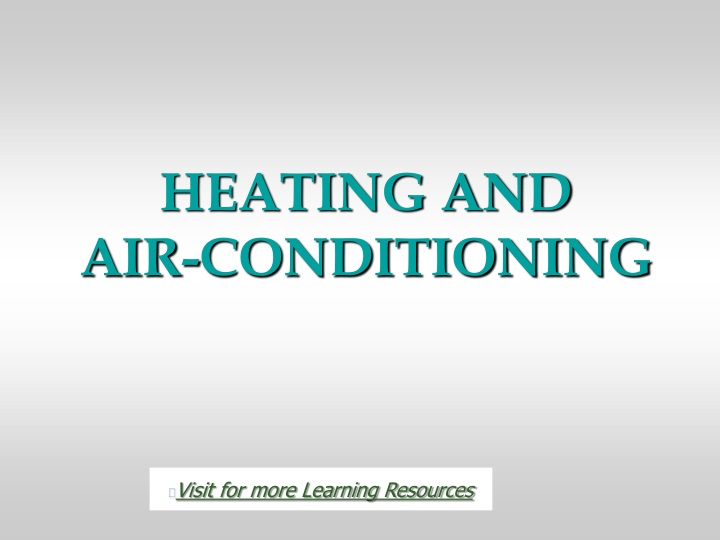 heating and air conditioning n.