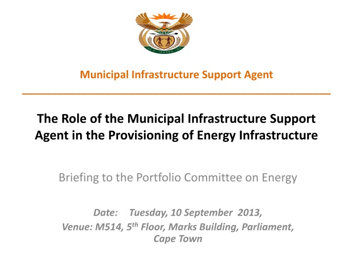 municipal infrastructure support agent the role n.