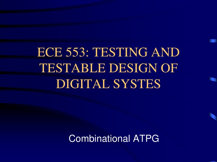 ece 553 testing and testable design of digital systes n.