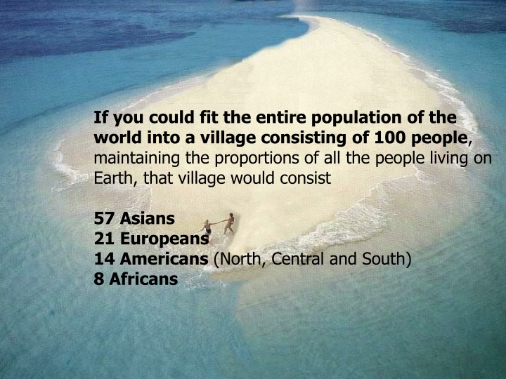 if you could fit the entire population n.