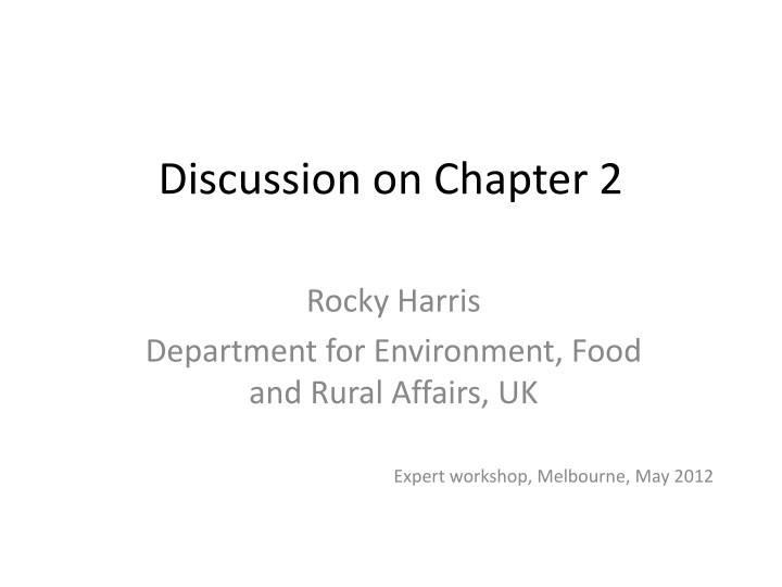discussion on chapter 2 n.
