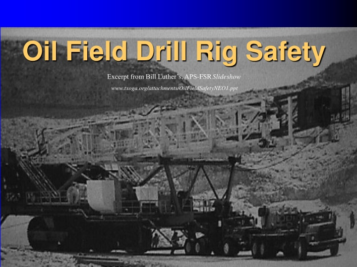 oil field drill rig safety n.