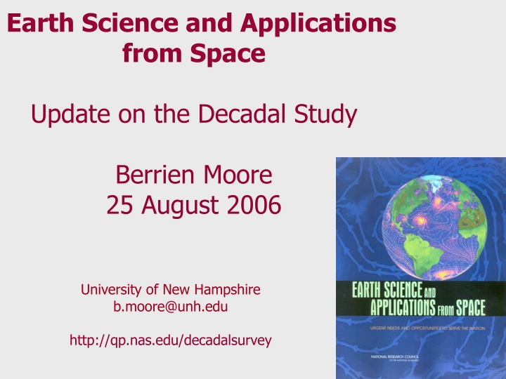 earth science and applications from space update n.