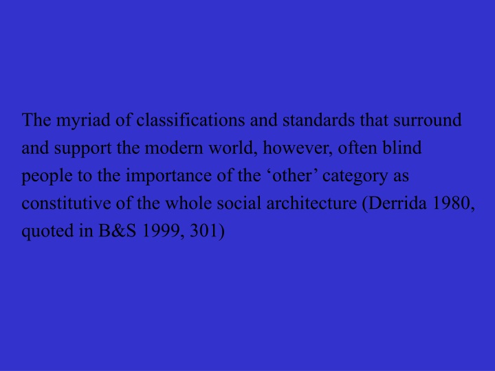 the myriad of classifications and standards that n.