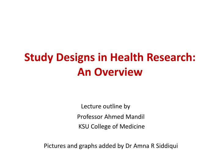 study designs in health research an overview n.