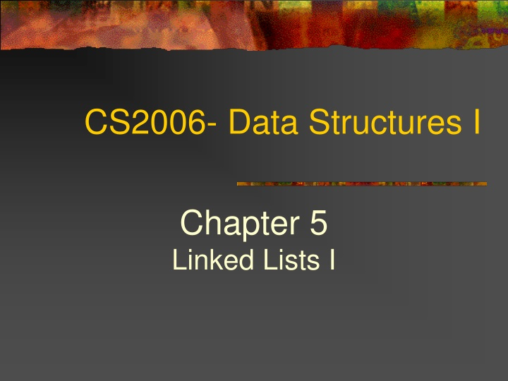 cs2006 data structures i n.