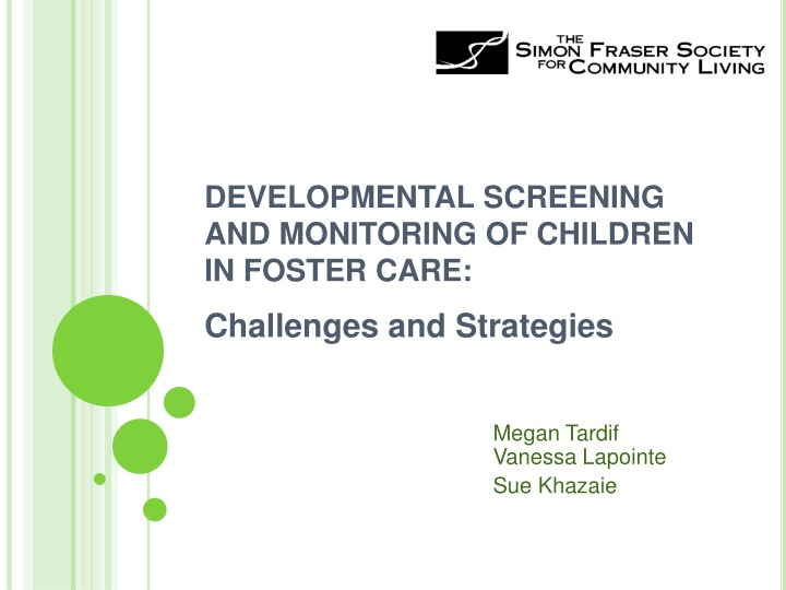 developmental screening and monitoring of children in foster care n.