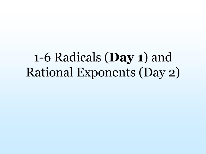 1 6 radicals day 1 and rational exponents day 2 n.