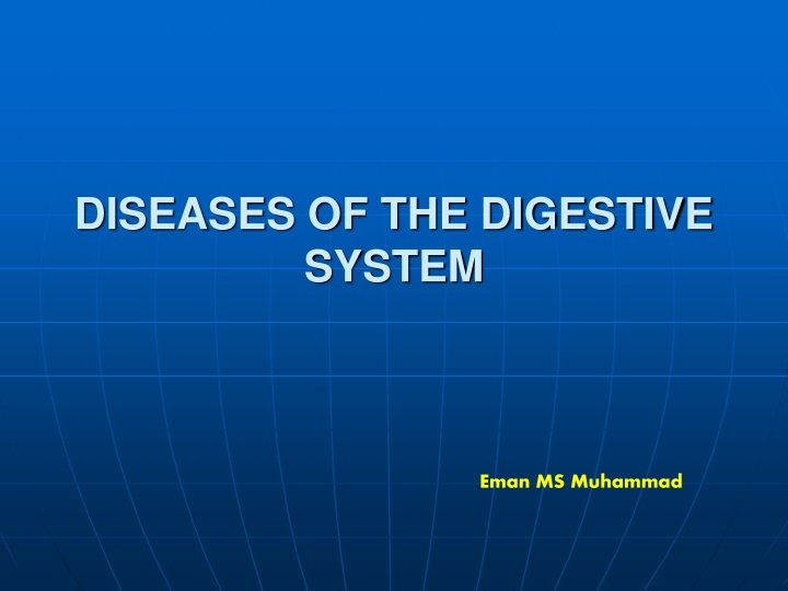 diseases of the digestive system n.