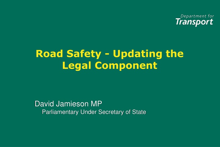road safety updating the legal component n.