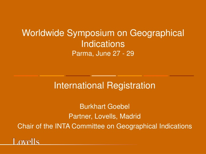 worldwide symposium on geographical indications parma june 27 29 n.
