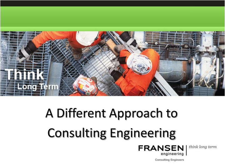 a different approach to consulting engineering n.