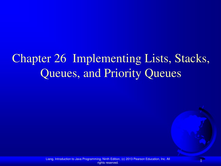 chapter 26 implementing lists stacks queues and priority queues n.