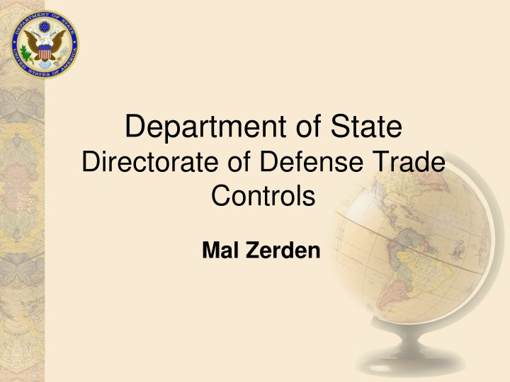 department of state directorate of defense trade controls n.