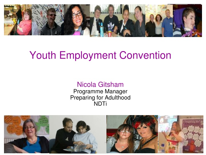 youth employment convention nicola gitsham programme manager preparing for adulthood ndti n.