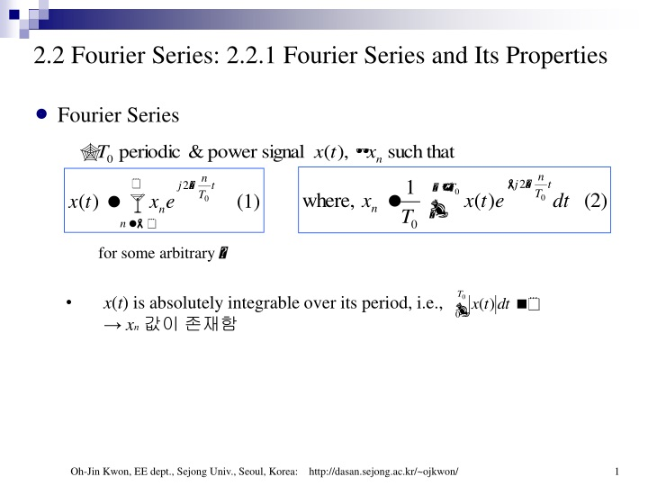 2 2 fourier series 2 2 1 fourier series and its properties n.