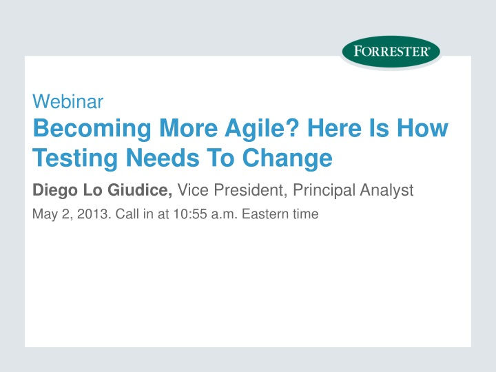 webinar becoming more agile here is how testing needs to change n.